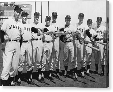 Baseball Canvas Print - 1961 San Francisco Giants by Underwood Archives
