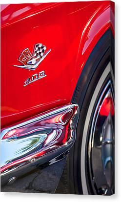 1962 Chevrolet Impala Ss 409 Emblem Canvas Print by Jill Reger