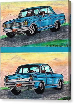 1962' Chevy Nova II Canvas Print