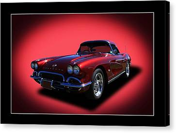 Canvas Print featuring the photograph 1962 Corvette by Keith Hawley
