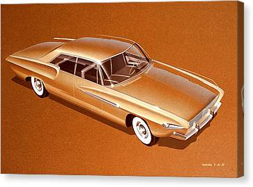1962 Desoto  Vintage Styling Design Concept Rendering Sketch Canvas Print
