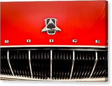 1962 Dodge Polara 500 Emblem Canvas Print by Jill Reger
