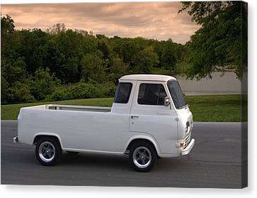 Canvas Print featuring the photograph 1962 Ford Econoline Pickup Truck by Tim McCullough
