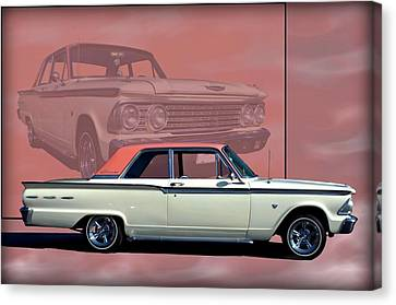 Canvas Print featuring the photograph 1962 Ford Fairlane 2 Door Sports Coupe by Tim McCullough