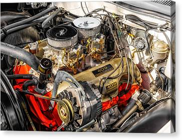 1962 Impala Ss 409 Engine Canvas Print