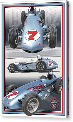 Canvas Print featuring the photograph 1962 Leader Card 500 Roadster by Ed Dooley