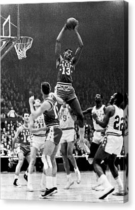 1962 Nba All-star Game Canvas Print by Underwood Archives