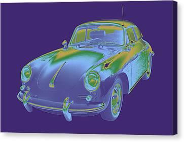 Porsche 356 Coupe Front Canvas Print - 1962  Porsche 356 E Pop Image by Keith Webber Jr
