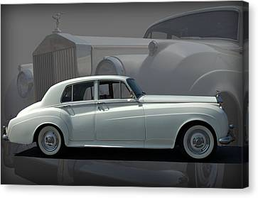 Canvas Print featuring the photograph 1962 Rolls Royce Silver Cloud by Tim McCullough