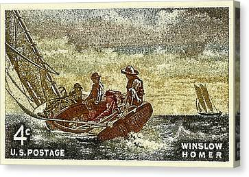 1962 Winslow Homer Postage Stamp Canvas Print by David Patterson