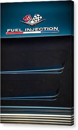 1963 Chevrolet Corvette Sting Ray Fuel-injection Split Window Coupe Emblem Canvas Print by Jill Reger