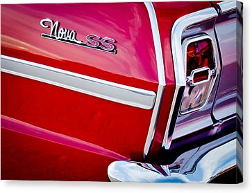 1963 Chevrolet Nova Convertible Taillight Emblem Canvas Print by Jill Reger