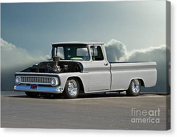 1963 Chevy 'low Rider' Pick-up Truck Canvas Print by Dave Koontz