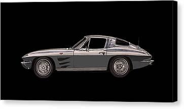 1963 Corvette Split Rear Window Canvas Print by Jack Pumphrey