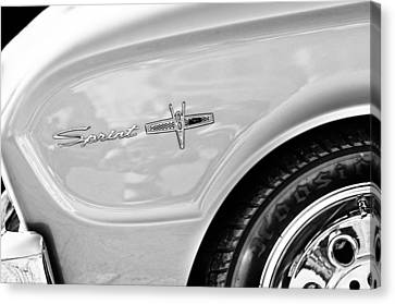1963 Ford Falcon Sprint Side Emblem Canvas Print