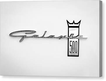 1963 Ford Galaxie 500 R-code Factory Lightweight Emblem Canvas Print by Jill Reger