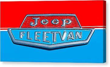 1963 Jeep Fleetwood Emblem Canvas Print by Jill Reger