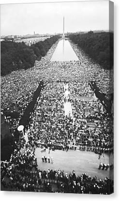 1963 March On Washington Canvas Print by Warren Leffler