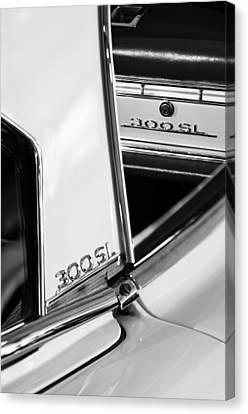 1963 Mercedes-benz 300 Sl Roadster Emblems Canvas Print