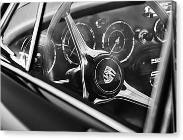 1963 Porsche 356 B 1600 Coupe Steering Wheel Emblem Canvas Print by Jill Reger