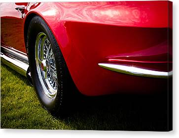 1963 Red Chevy Corvette Stingray Canvas Print