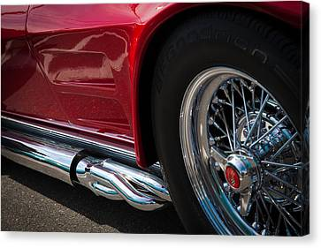 1963 Red Corvette Canvas Print