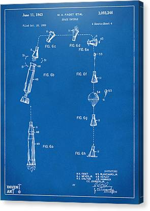 1963 Space Capsule Patent Blueprint Canvas Print by Nikki Marie Smith