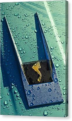 1963 Studebaker Avanti Hood Ornament Canvas Print by Jill Reger