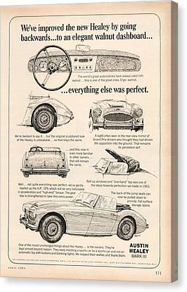 1964 Austin Healey Canvas Print
