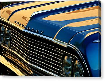 1964 Chevrolet Chevelle Grille Canvas Print by Jill Reger