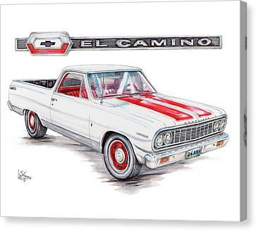 1964 Chevrolet El Camino Canvas Print by Shannon Watts