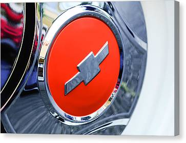 1964 Chevrolet Pickup Truck K 10 Wheel Emblem Canvas Print