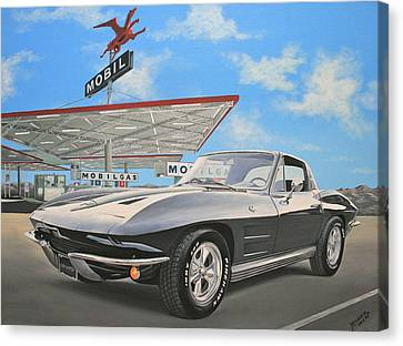1964 Corvette Canvas Print by Branden Hochstetler
