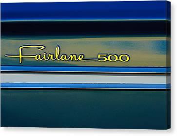 1964 Ford Fairlane 500 Emblem Canvas Print by Jill Reger