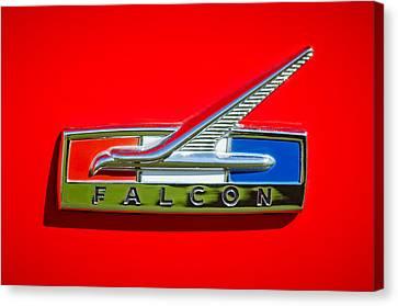 1964 Ford Falcon Emblem Canvas Print by Jill Reger