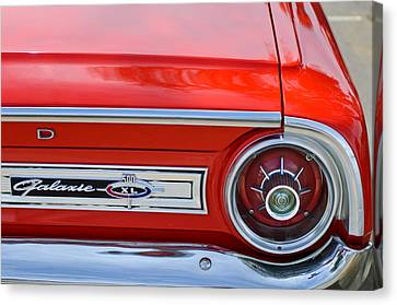 1964 Ford Galaxie 500xl Taillight Emblem Canvas Print by Jill Reger