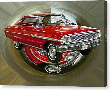 1964 Ford Galaxie Canvas Print by B Wayne Mullins
