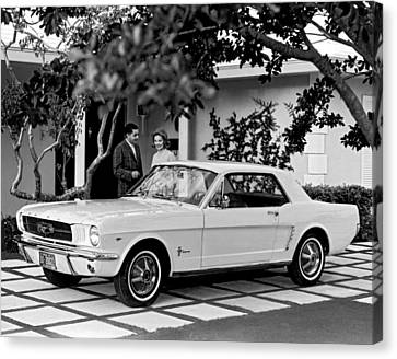 Florida House Canvas Print - 1964 Ford Mustang by Underwood Archives
