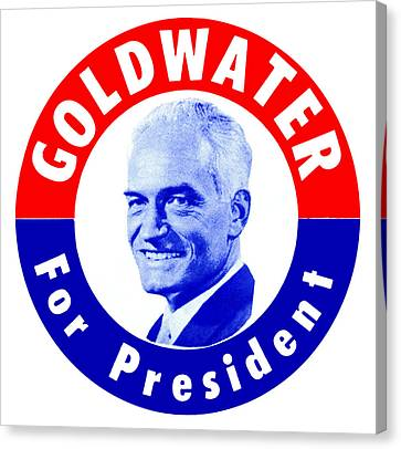 1964 Goldwater For President Canvas Print by Historic Image