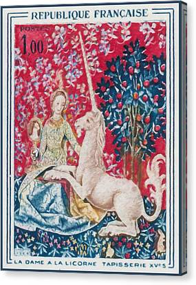 1964 Lady With The Unicorn Tapestry Fifteenth S Canvas Print