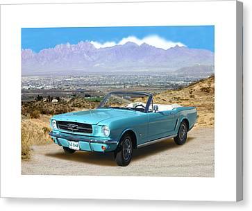 1964 Mustang Convertible Canvas Print