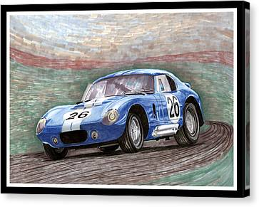 1964 Shelby Daytona Canvas Print by Jack Pumphrey