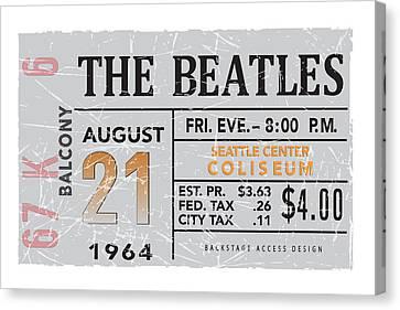 1964 Seatlle Beatles Poster Canvas Print