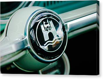 1964 Volkswagen Vw Steering Wheel Canvas Print by Jill Reger