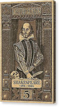 1964 William Shakespeare Postage Stamp Canvas Print by David Patterson