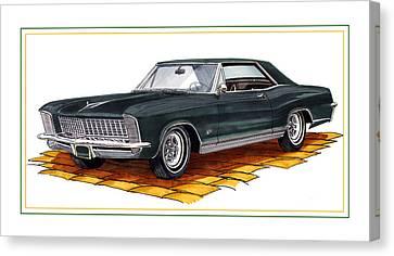 Buick Riviera Custom Canvas Print by Jack Pumphrey