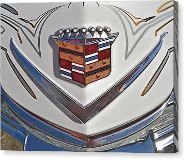 1965 Cadillac Hood Emblem Canvas Print by Bill Owen