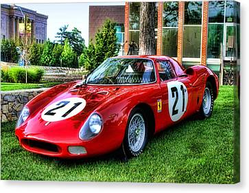 Canvas Print featuring the photograph 1965 Ferrari V12 250 Lm by Tim McCullough