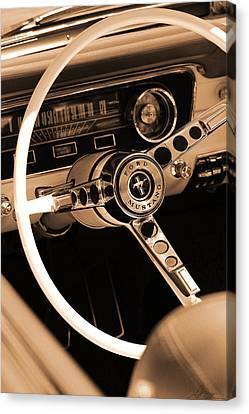1965 Ford Mustang  Canvas Print by Gordon Dean II