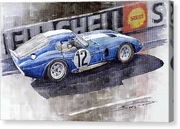 1965 Le Mans  Daytona Cobra Coupe  Canvas Print by Yuriy Shevchuk